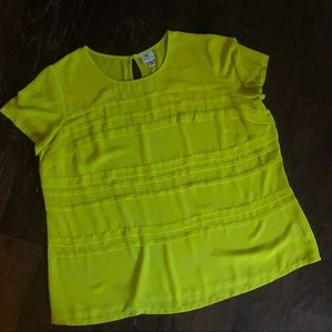 Textured Green Shortsleeved Blouse